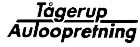 Tågerup Auto-opretning logo
